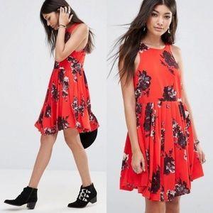 Free People Red Flutterby Sleeveless Dress Sz 0
